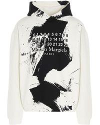 Maison Margiela Paint Effect Hoodie - White