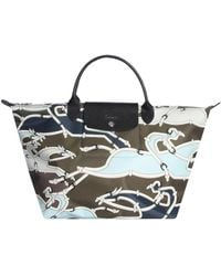 Longchamp - Camouflage Pattern Tote Bag - Lyst