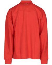 ADER error Logo Embroidered Polo Shirt - Orange