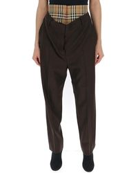 Burberry - Double-waisted Tailored Trousers - Lyst