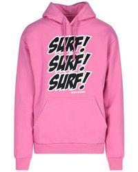 Noon Goons Surf Attack Print Hoodie - Pink