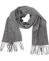 Polo Ralph Lauren Logo Embroidered Scarf - Gray