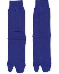 Maison Margiela Tabi Toe Ribbed Socks - Blue