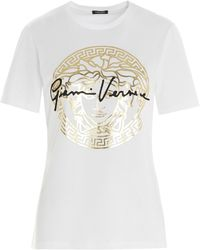 Versace Gv Signature Medusa T-shirt - White