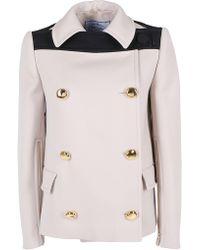 Prada Double-breasted Short Coat - Multicolor