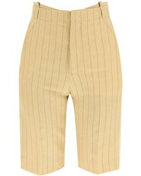 Jacquemus Le Short Gardian Linen Shorts 34 Linen - Yellow