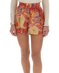 Etro Paisley Print Shorts - Multicolour