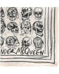 Alexander McQueen Other Materials Foulard - White