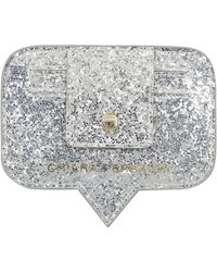 Chiara Ferragni Glittered Logo Print Card Holder - Metallic