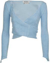 Maisie Wilen Dramady Cropped Top - Blue