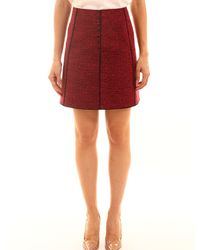 Proenza Schouler Red And Black Skirt