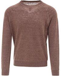 Brunello Cucinelli Round Neck Sweatshirt - Brown