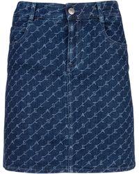Stella McCartney All Over Logo Mini Skirt - Blue