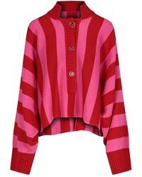 The Attico Striped Knit Jumper - Red