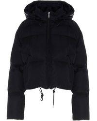 Prada Cropped Hooded Down Jacket - Black