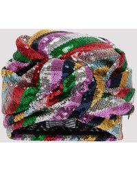 Maison Michel Helen Sequin Turban - Multicolor