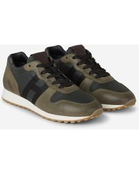 Hogan H383 Low-top Trainers - Green