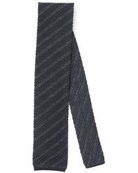 Tom Ford Knit Stripe Tie - Grey