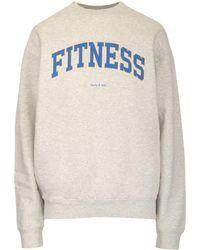 Sporty & Rich Fitness Crewneck Sweatshirt - Grey