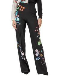 Etro Floral Print Pants - Black