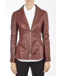 Dior - Zipped Leather Jacket - Lyst