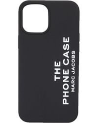 Marc Jacobs Logo Printed Iphone 12 Pro Max Cover - Black
