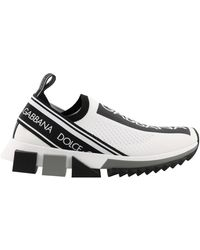 Dolce & Gabbana Stretch Mesh Sorrento Trainers With Logotape Detailing - Multicolour