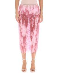Paco Rabanne Paillette Midi Skirt - Pink