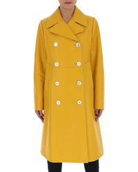 Prada Double Breasted Coat - Yellow