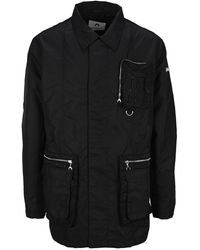 Marine Serre Pocket Detail Zipped Jacket - Black