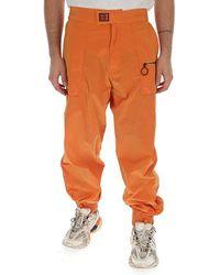 Off-White c/o Virgil Abloh Pocketed Side Logo Stripe Track Trousers - Orange