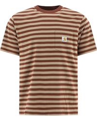 "Carhartt WIP ""scotty Pocket"" T-shirt - Brown"