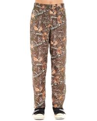 Palm Angels Camouflage Print Logo Track Trousers - Brown