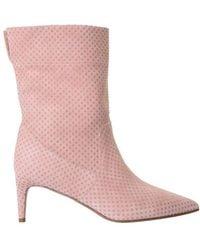 RED Valentino Valentino Garavani Softies Embellished Ankle Boots - Pink