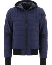 Canada Goose Technical Fabric Down Jacket With Zip - Blue