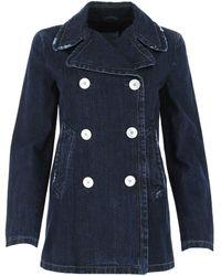 Prada Double-breasted Denim Coat - Blue