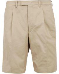 Prada Tailored Bermuda Shorts - Natural