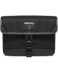 Prada Logo Plaque Cellphone Case - Black