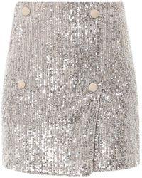 ROTATE BIRGER CHRISTENSEN Sequin-embellished Skirt - Metallic