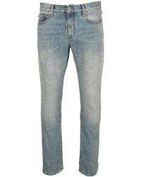 Off-White c/o Virgil Abloh Diag Pocket Skinny-fit Jeans - Blue