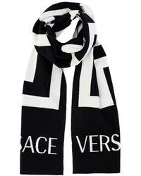 Versace Greca Motif Scarf - Black