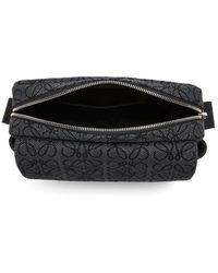 Loewe Military Xs Anagram Jacquard Messenger Bag - Black