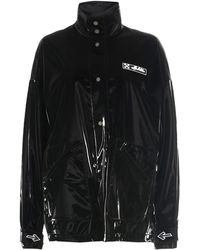 Off-White c/o Virgil Abloh Logo Patch Coat - Black