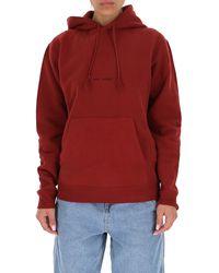 Saint Laurent Drop Shoulder Hoodie - Red