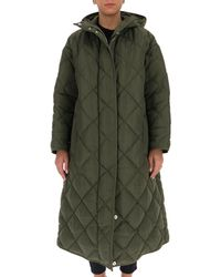 Stand Studio Sue Quilted Long Coat - Green