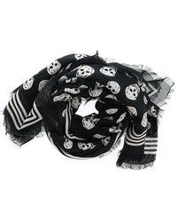 Alexander McQueen All Over Skull Scarf - Black