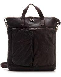 Officine Creative Crinkled-effect Tote Bag - Brown