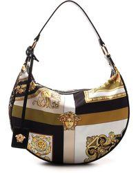 Versace Mixed Print Hobo Bag - Multicolour