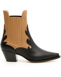 Alberta Ferretti - Pointed Slip-on Ankle Boots - Lyst