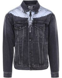 Marcelo Burlon Wings Print Denim Jacket - Black